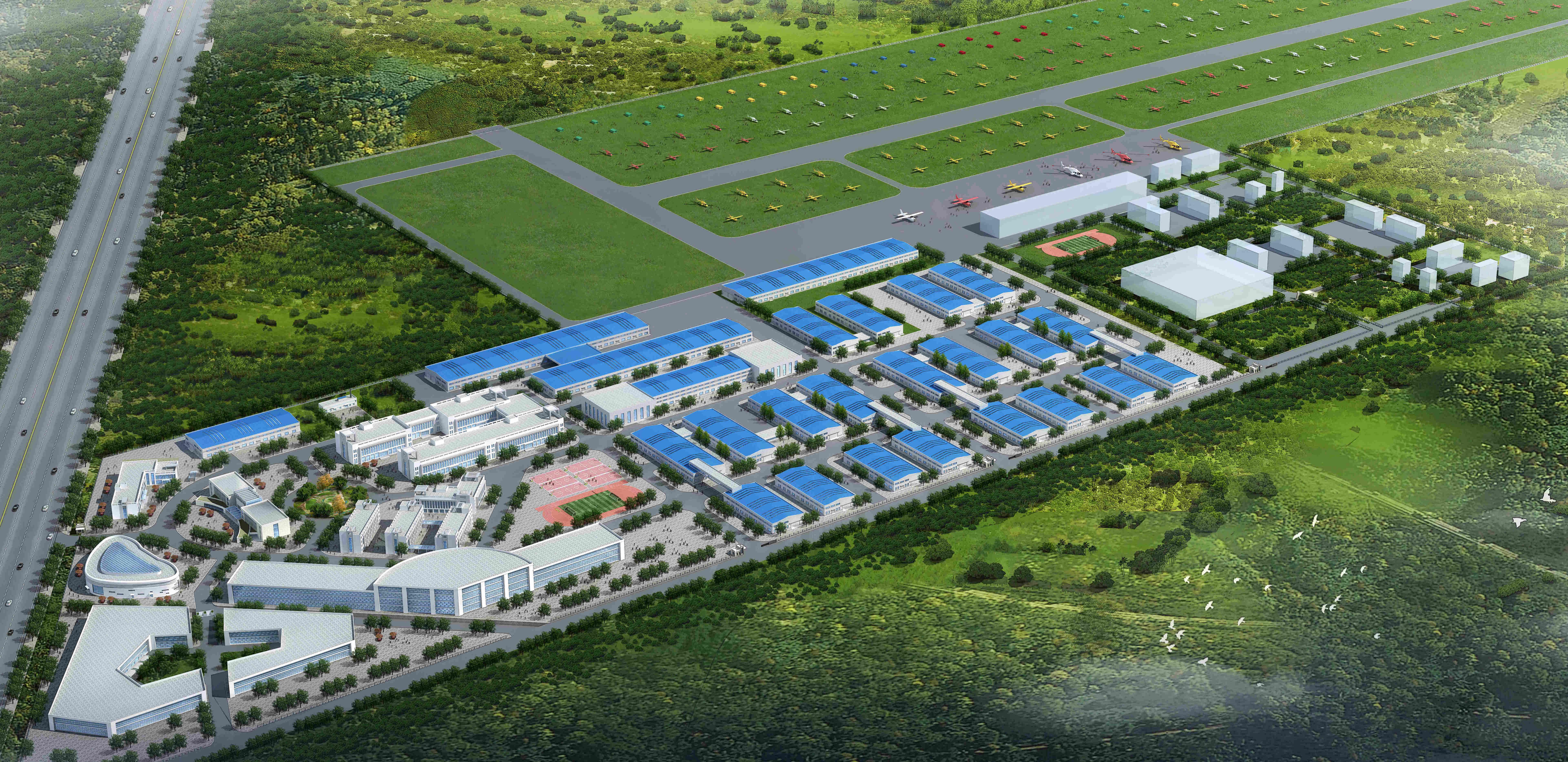 首个大同市青少年航空科技教育基地正式挂牌-中德飞机