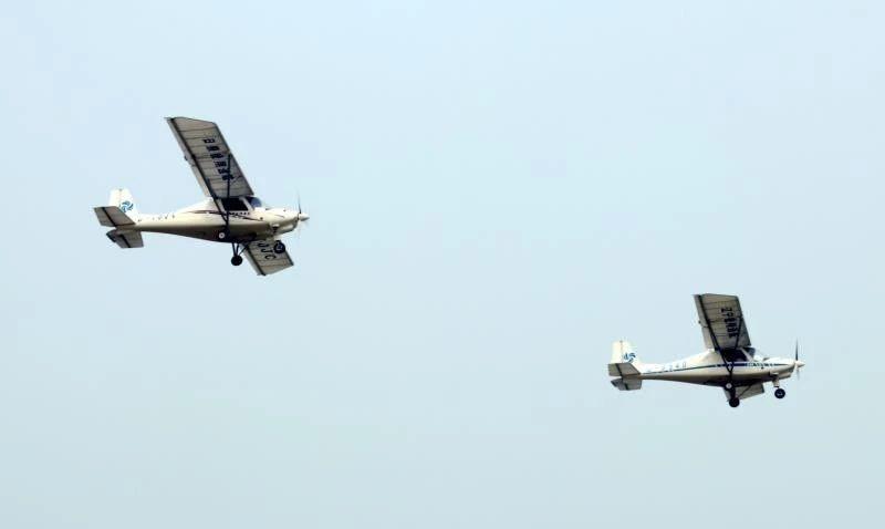 热烈祝贺日照锐翔C42E飞行表演圆满成功-中德飞机